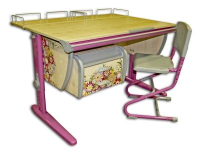 Парта Дэми СУТ-15-04 с рисунком Цветы