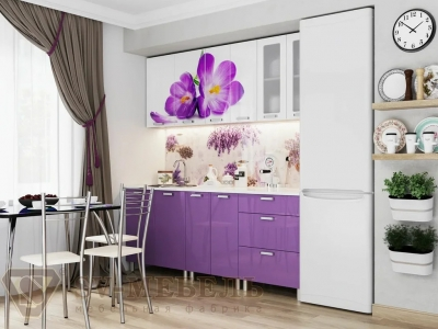Кухня Модерн фотопечать крокусы