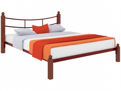Кровать София Lux красная