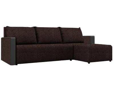Угловой диван Алиса 3 Savana Chocolate-Teos Dark Brown кат. 1