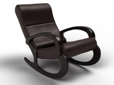 Кресло-качалка Гарда экокожа венге