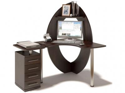 Компьютерный стол Сокол КСТ-101 c надстройкой левый Венге