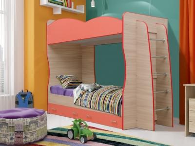 Кровать детская двухъярусная Юниор-1.1 Коралл