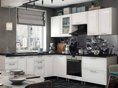 Кухня Монро белый глянец