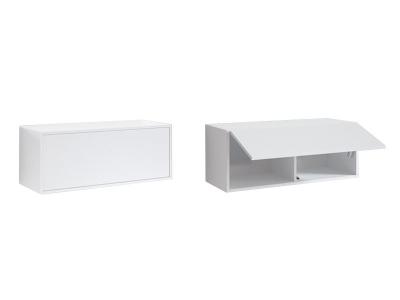 Модуль горизонтальный Г-ШН-3-2 Мелия 900-350-350 Белый глянец