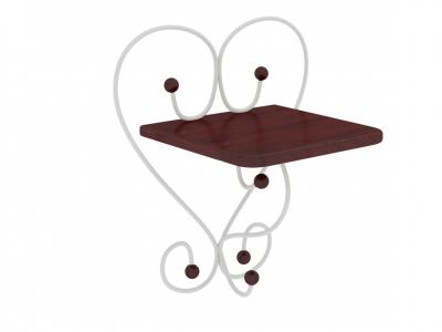 Полка настенная Милсон коричневая-металл белый