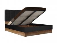 Кровать с подъемным механизмом 1600 Рамона Р 1.0.5 Дуб кельтский/Черный