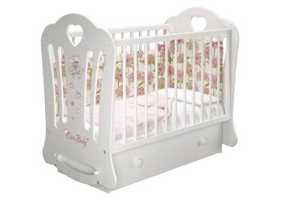 Кроватка детская Шарлотта 3 Птички маятник с ящиком