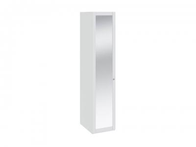 Шкаф для белья с 1 дверью с зеркалом Ривьера СМ 241.07.001 Белый