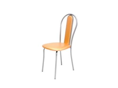 Кухонный стул Венский М серебристый металлик-оранжевый