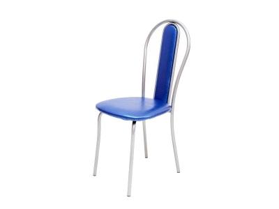 Кухонный стул Венский М серебристый металлик-синий