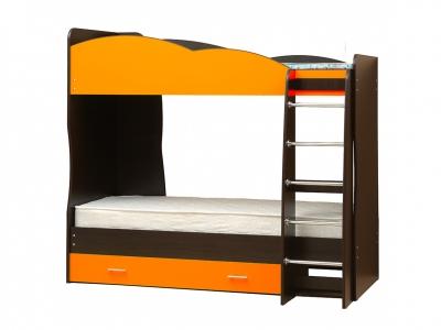 Кровать детская двухъярусная Юниор-2.1 Оранжевый
